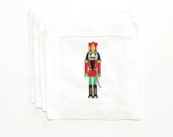 Christmas Gift for Her, Nutcracker Gift for Her, Christmas Gift Ideas, Holiday Gift Ideas, Nutcracker Cocktail Napkins, Nutcracker Collector