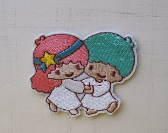 6 x 5 cm, Little Twin Star Iron On Patch (P-507)
