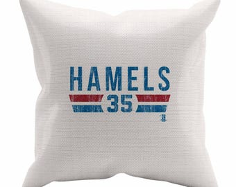 Cole Hamels Font B Texas Decorative Pillow MLBPA Officially Licensed