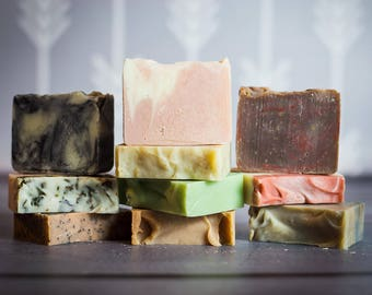 Soap - natural soap - 10 Bars of Soap - All Natural Soap - Soaps - Bar Soap - Cold Process Soap - Bar Soaps - Bar of Soap - Scented soap