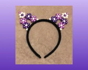 Purple Blossom Kitty Ears