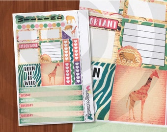 Safari Mini Kit - Weekly Mini Happy Planner Kit - Planner Stickers for Mini Happy Planner, filofax and more!