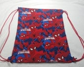 Drawstring Bag Made With Marvel Fabric Spider-Man, Marvel Bag, Marvel Fabric, Awesome Bag, Nerdy Gift, Nerdy Backpack, Superhero Bag