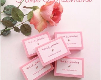 Handmade soap, Rose and Jasmine Fragrance