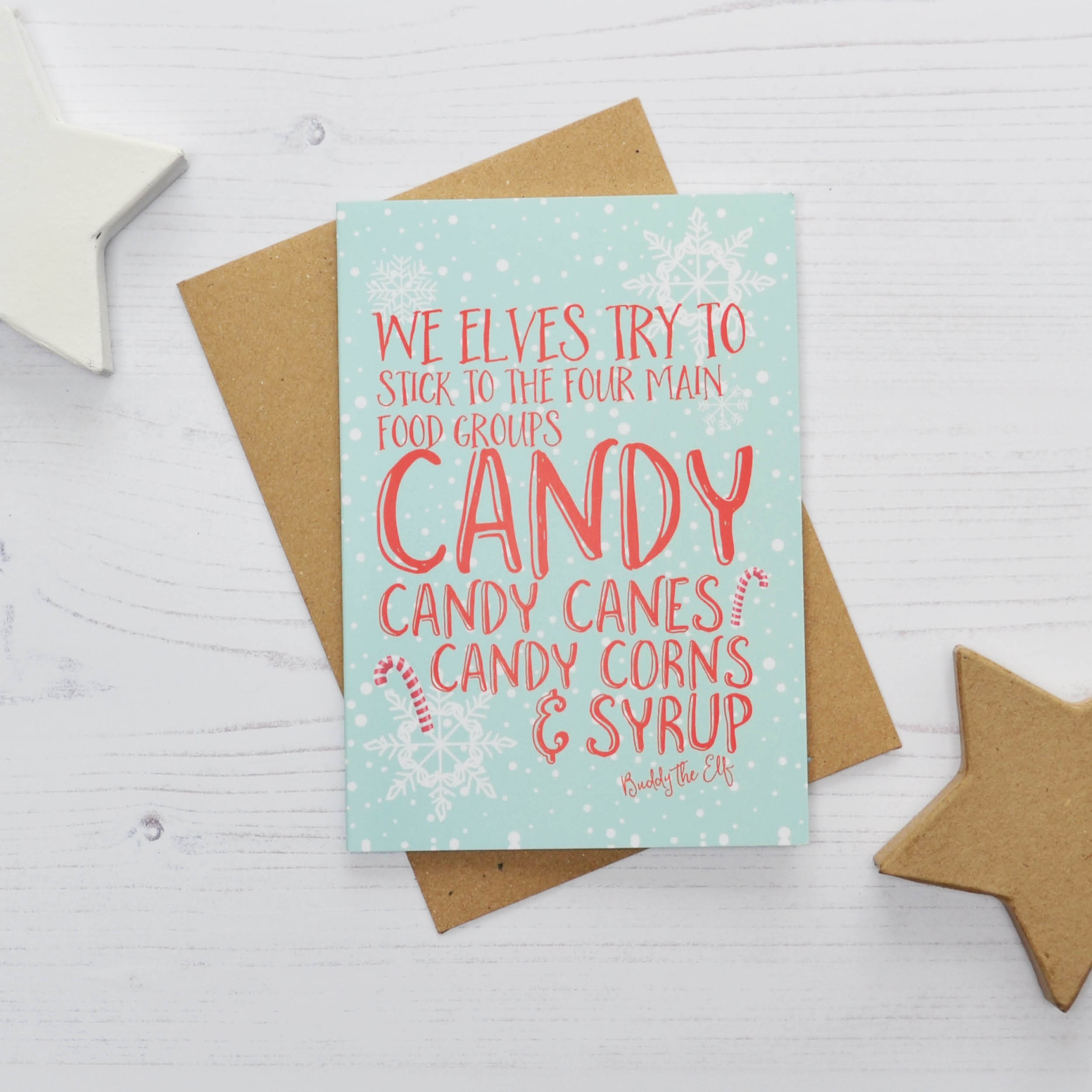 Buddy The Elf Christmas Cards Buddy The Elf Quote Cards Code Of