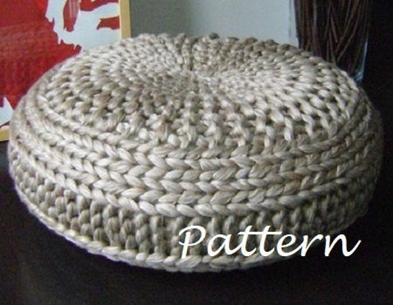 Knitting Pattern Knitted Extra Large Pouf Pattern Poof Knitting Ottoman Footstool Home Decor Pillow Bean Bag Pouffe Floor Cushion