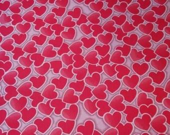 Valentine Fabric, Hearts/Sweetheart/Cupid/Love, XOXO, ApparelFabric, NoveltyFabric, Quilting Fabric, Craft/Diy/Sewing, Fabric Yard/Half Yard