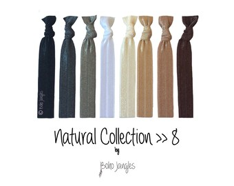 Hair Ties, Natural, Ponytail holders, Knotted Hair Ties, Stretchy Hair Ties, Hair Elastic, Elastic Hairband, Womens Hairband