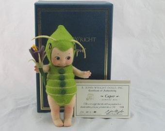 """R. John Wright """"Caper"""" Felt Kewpie Bug Doll, Limited Edition #119/250"""