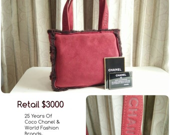 Free Ship Chanel Vintage RED Chanel Sheep Shearing Handbag Light And Stylish!  Chanel Red Sheep Skin Ultra Soft and practical ! Authenticity