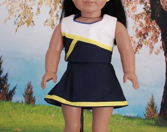 American Girl Doll Blue and White Cheerleader Uniform