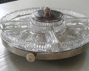 Platter vintage to the turn with glass bowl