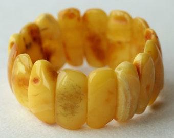 Antique Natural Amber Bracelet Gorgeous 24.01 gr 自然琥珀色的小珠