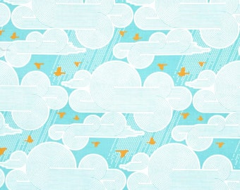 Cumulus in Mint, Atrium Collection by Joel Dewberry for Free Spirit Fabrics 4235