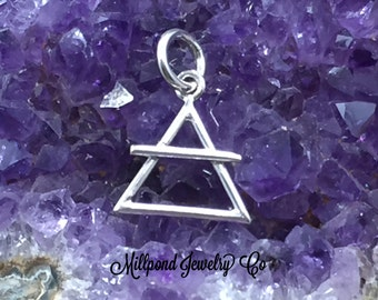 Four Elements Charm, Elements Charm, Air Element Charm, Sterling Silver Charm, PS01706
