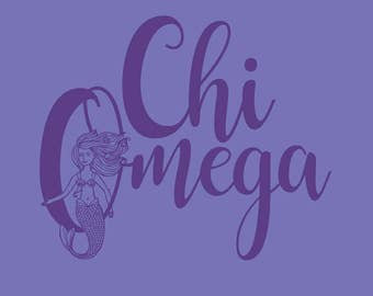 Chi Omega Comfort Color Tank Top