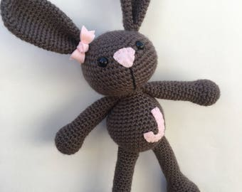 Baby Girl First Bunny - Keepsake Gift for Baby Girl - Boutique Baby Girl Gift - Personalized Stuffed Bunny - Heirloom Doll - Bunny Rabbit