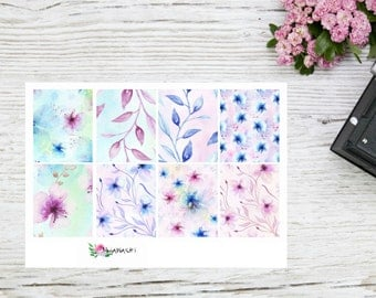 Planner stickers Full EC boxes with flowers
