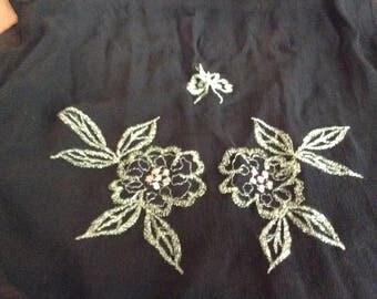 Vintage Black Mesh Colorful Scarf