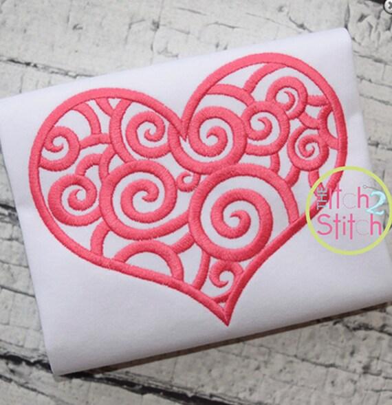 SHIPS FAST!!  Scroll Heart Design Shirt, Bodysuit, Bubble or Romper