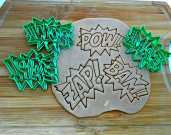 Super Hero Words Cookie Cutters/Set of 3/ Multi-Size