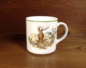 Bareuther waldsassen , woodland mug, elk , quail, Bavaria Germany