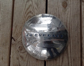 Vintage chevrolet hubcap, 1950, baby moon, wall decor, auto, car, man cave, garage, Chevy, Fathers day