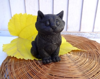 Black Cat soap with shungite healing detox bath homemade soap home bath decor soap gift