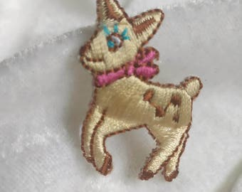 Wholesale bulk lot  6pcs cartoon  Deer   embroidered iron on patch boy apprarel diy sewing  2.5x4cm