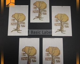300 Satin printed label ,Screen printed label , Personalized labels, Printed satin label, Silk label, Care wash label