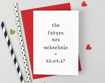 Future Mrs Personalised Wedding Day Card - Bride Wedding Day Card - Wedding Day Card for Bride - Card For Bride - To My Bride Card
