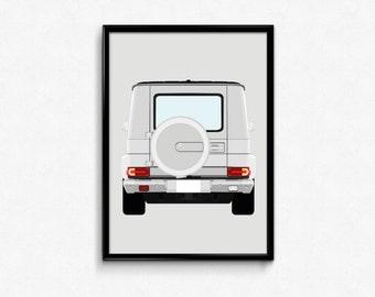 Mercedes G-Wagon A3 Print
