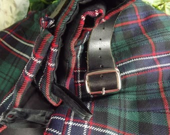 Kilt, Vintage Mens' Tartan Scottish Woollen Kilt