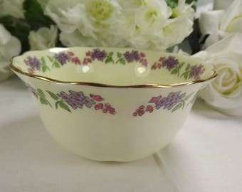 "Sugar Bowl Vintage "" Lilac"" New Chelsea Hand Finished"