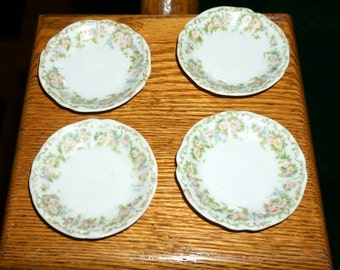 Vintage Set of Four Porcelain Butter Pats