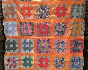 Hole in the Barn Door or Monkey Wrench Quilt top