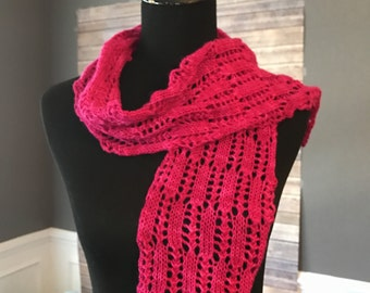 Pretty In Hot Pink Scarf