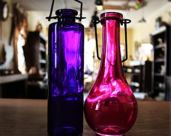 Eco Friendly Pink or Purple Glass Vessel For Rooting, Home/Shop/Craft Supplies, Party Favors and more