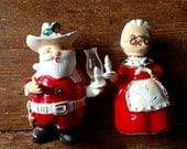 1949 Orion Santa Claus and Mrs. Claus Bone China Christmas Figurines. Made In Japan. Orion.