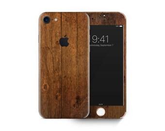 Wood skin decal vinyl 3M quality iPhone 4 5 6 7 Samsung Galaxy S4 5 6 7 Galaxy Note