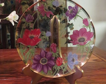 Beautiful Vintage Hand Painted Flowered Lefton Mother's Day Plate