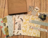 scrapbooking paper kit, AUTHENTIQUE Harmony, mini scrapbook paper kit, paper bag albums kit w/embellishments
