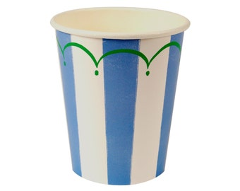 Toot Sweet Blue Stripe Cups