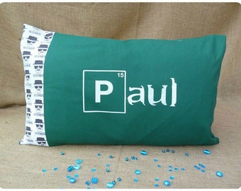 Personalised Breaking Bad Gift, Breaking Bad Pillowcase, Pillow Cases, Heisenberg Bedding, Personalized Bedding, Periodic Table Pillow