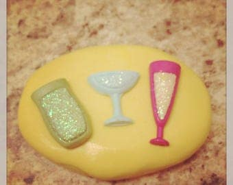 Drink Glass Cup Mold Set Silicone