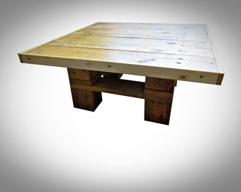 Handmade Recycled pallet Coffee Table 10 Square style