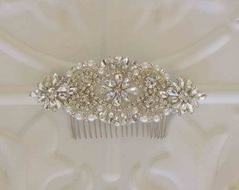 Bridal Hair Accessory, Rhinestone and Pearl  Wedding Hair Comb, Bridal hairpiece, Bridesmaid