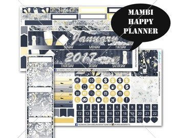 Celebration Stickers MONTHLY Planner Kit, for Erin Condren Planner, Life Planner Sticker, Monthly Sticker Kit, New Year kit #SQ00428-MHP