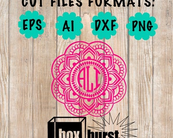 Mandala Flower Cut File for Decals Cut file only monogram sold seperately