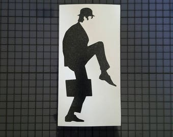 Monty Python Flying Circus Decal - Ministry of Silly Walks Sketch - Solid Design - 16 colors & Multiple Sizes